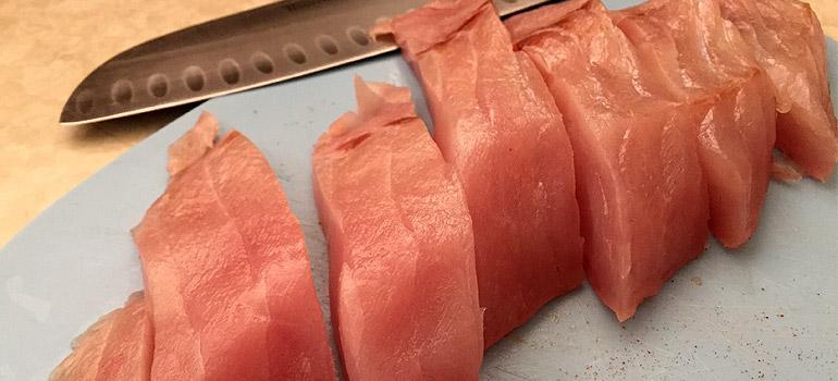Healthy Fish Taco Recipe - Sliced Fish